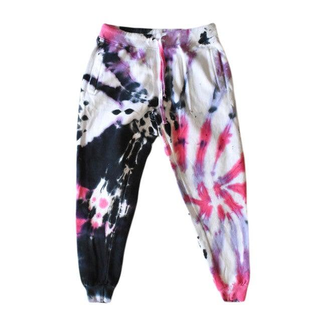 Tie Dye Jogger, Black Cotton Candy - Sweatpants - 1