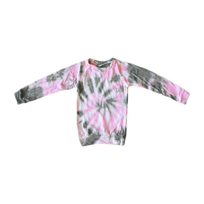 Tie Dye Raglan Shirt, Olive & Pink