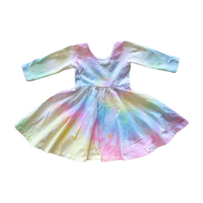 Twirly Dress, Pastel Tie Dye