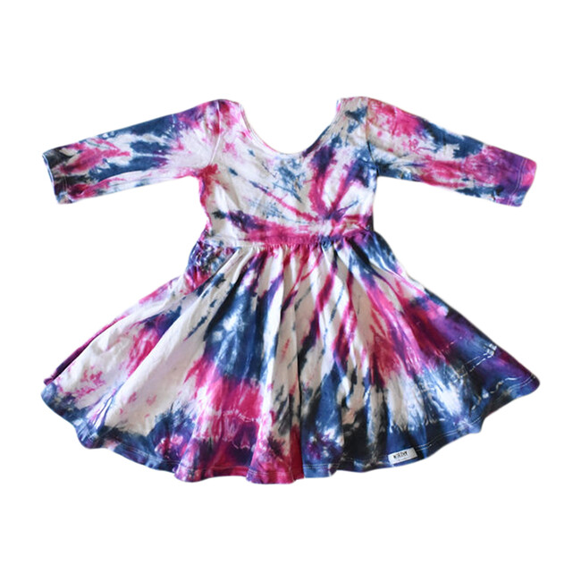 Twirly Dress, Blue Razz Tie Dye