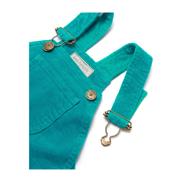 Corduroy Dungarees, Teal