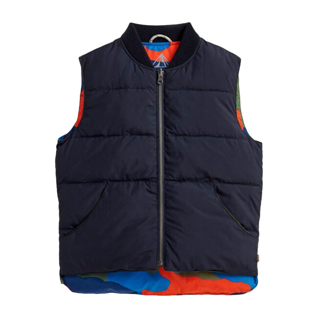 Hadio Reversible Camo Vest, Navy