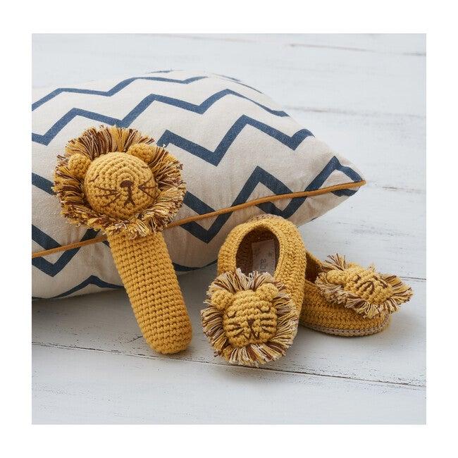 Crochet Lion Rattle Stick