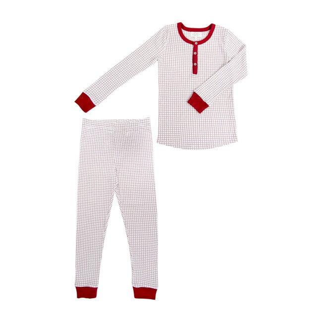 *Exclusive* Winter Grid Two-Piece Pajamas - Pajamas - 1