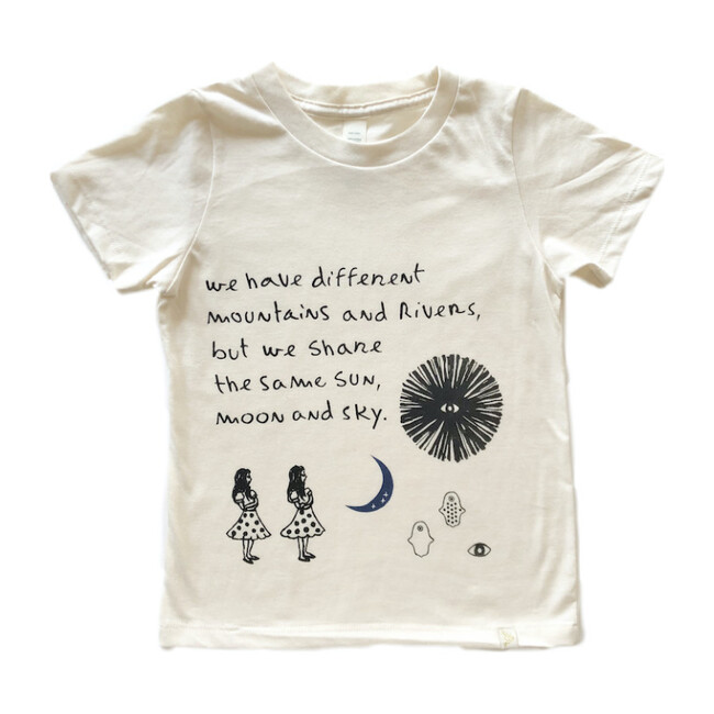 Sun, Moon and Sky Crew Tee in Natural