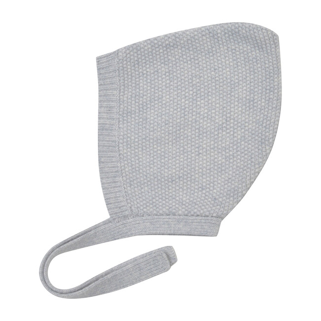 Moss Stitch Bonnet, Grey