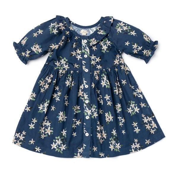 Ivy Dress, Navy Jasmine