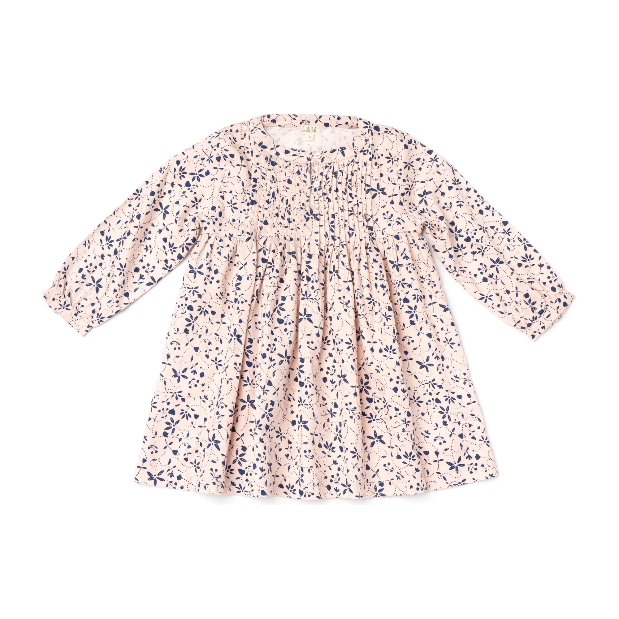 Charlotte Dress, Pink Vines