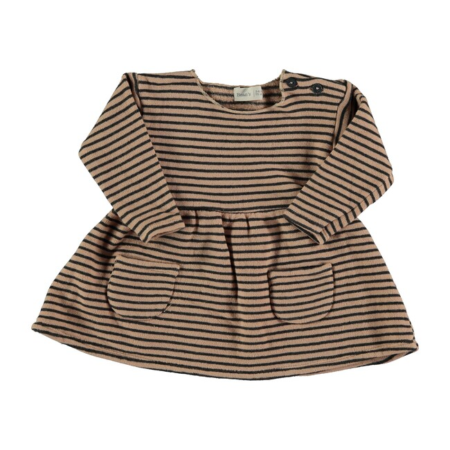 Striped Terry Dress, Nude