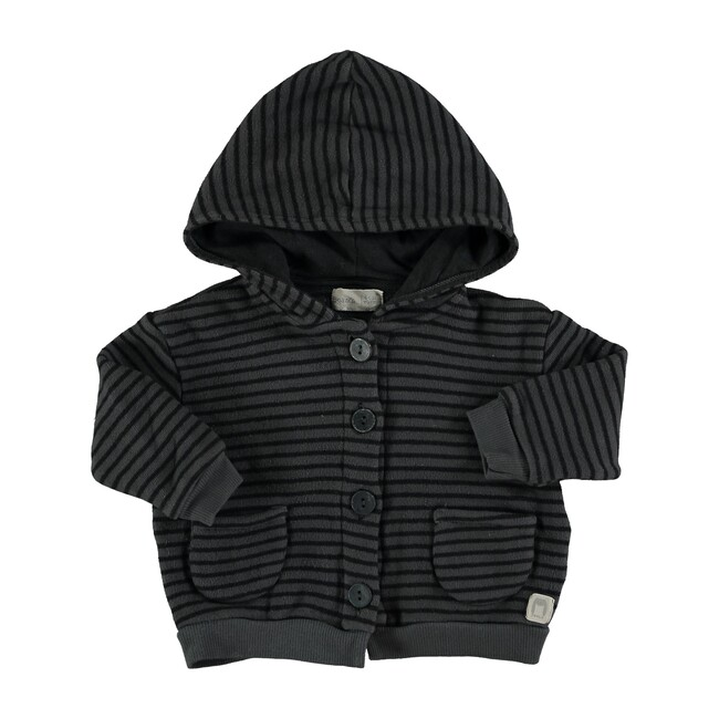 Terry Striped Jacket, Antracite