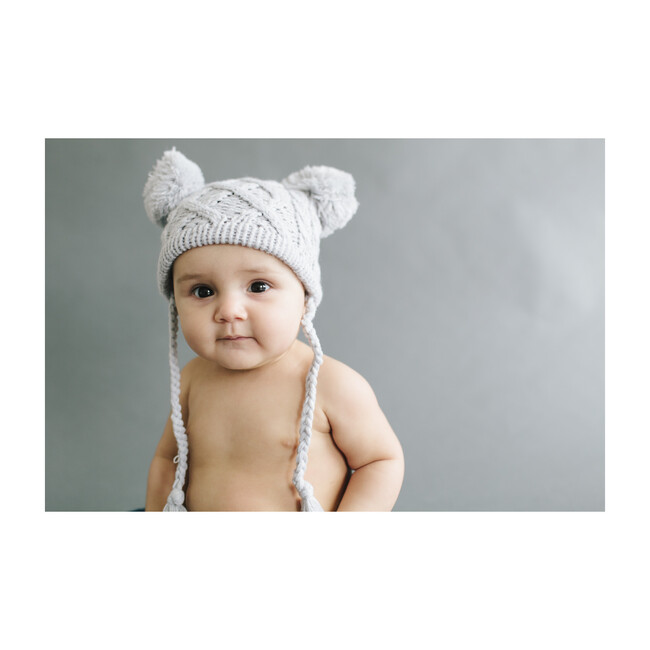 Quinn Cable hat, Gray