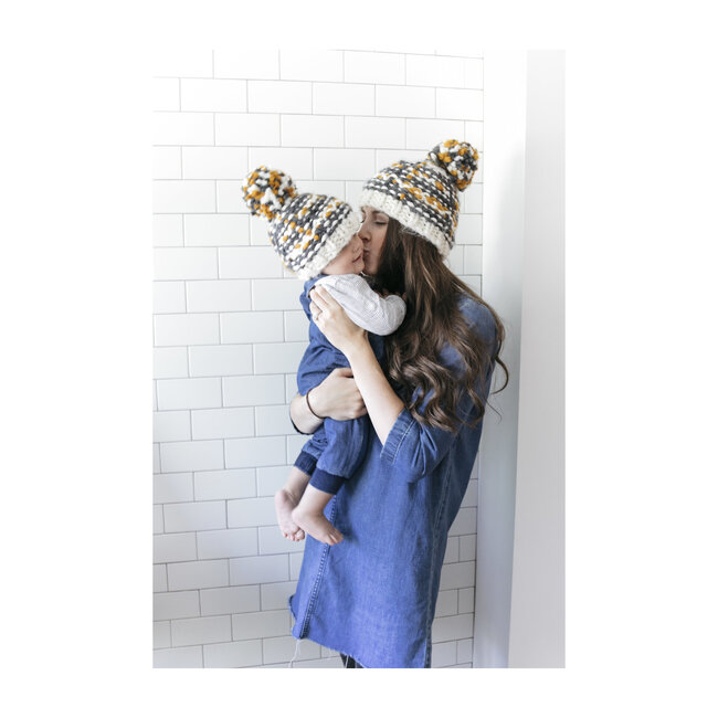Charlie Plaid Hat, Gray and Mustard