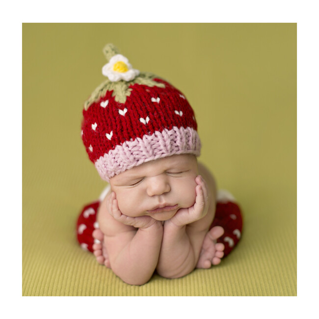 Addie Strawberry Newborn Set, Red