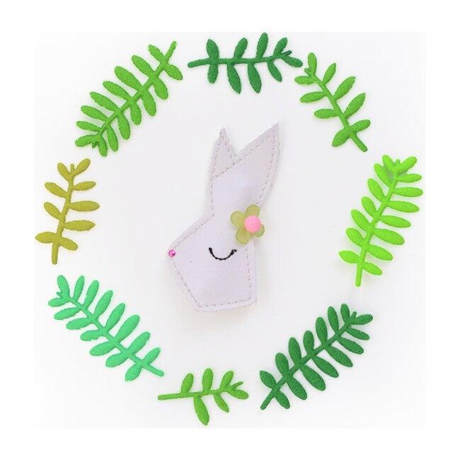 Flower Bunny Clip, White