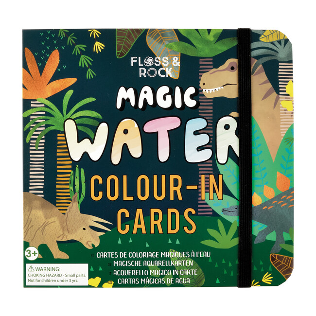 Dinosaur Magic Water Colour-In Cards - Arts & Crafts - 1