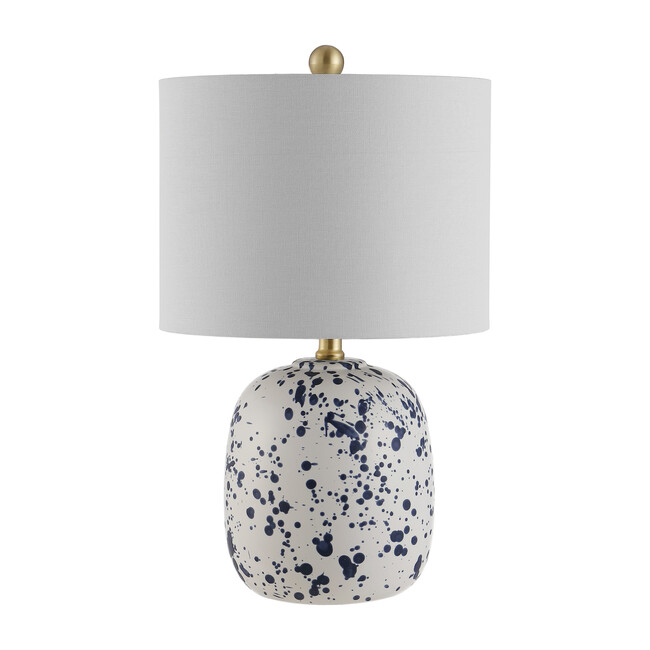 Wallace Ceramic Table Lamp, Blue/White