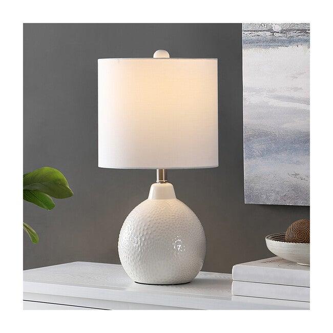 Memphis Ceramic Table Lamp, Ivory