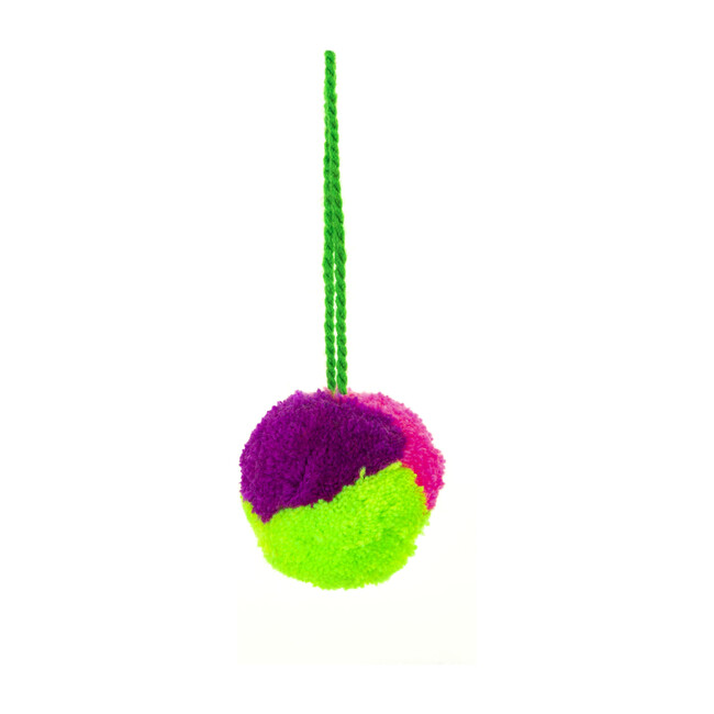 Pom Pom Ornament Single, Assorted