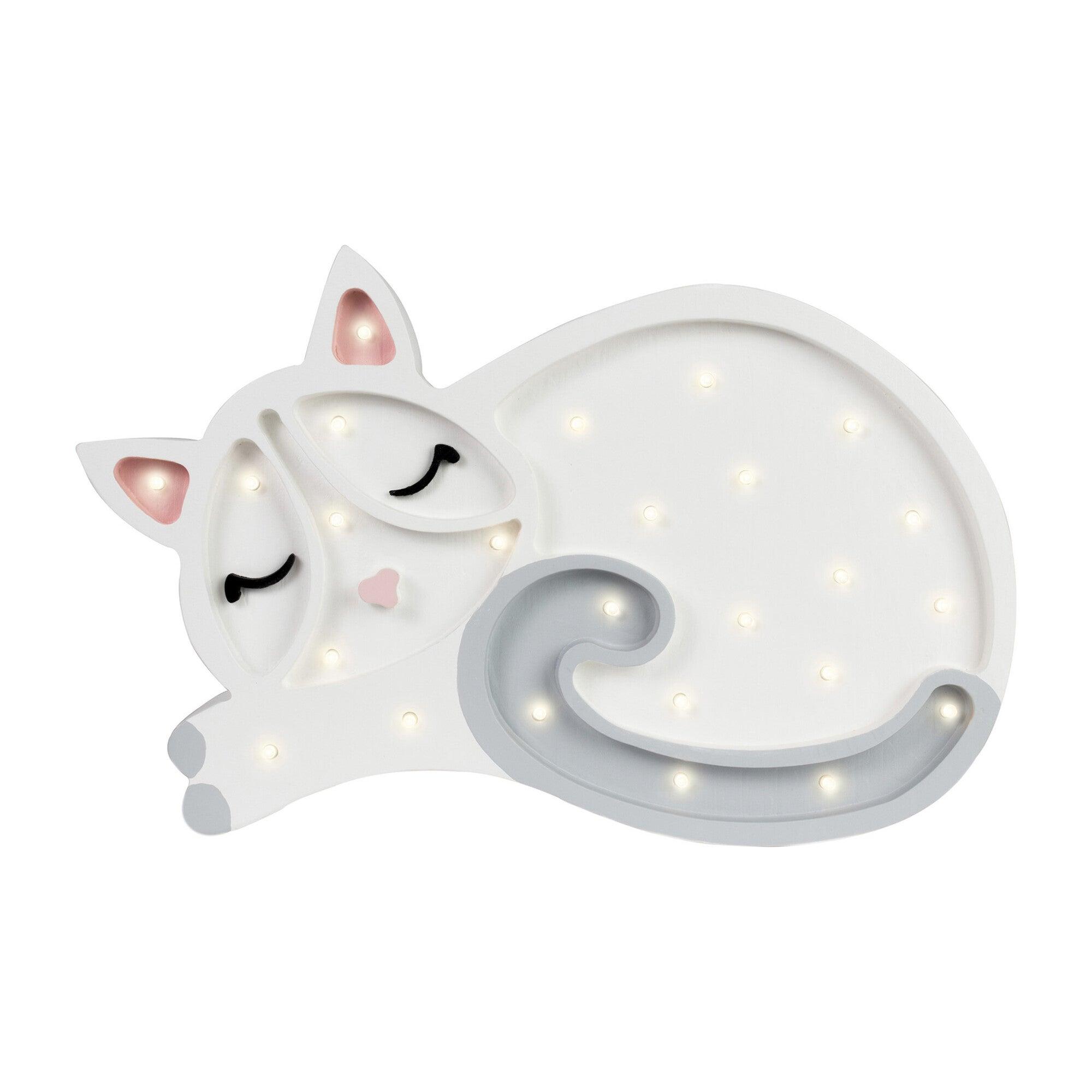 Kitten Lamp, White
