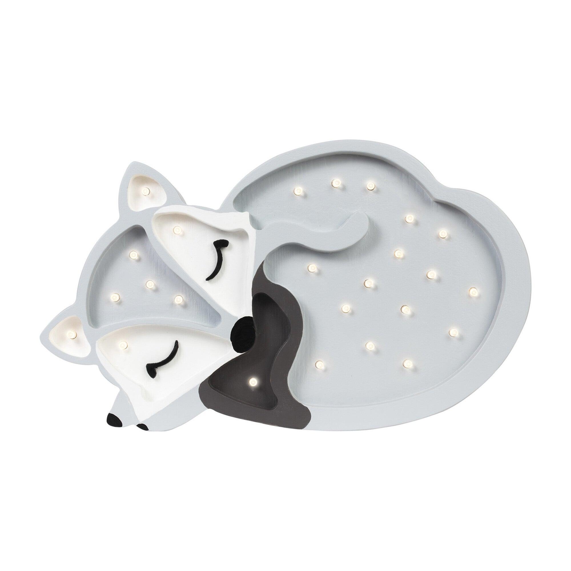 Baby Fox Lamp, Grey
