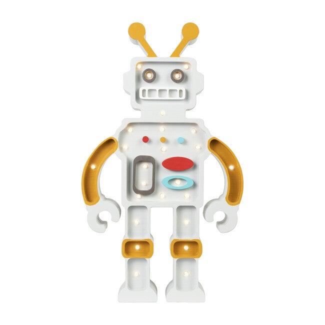 Robot Lamp, Yellow & Grey