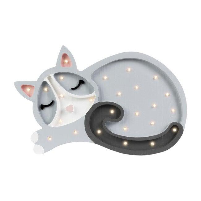 Kitten Lamp, Grey