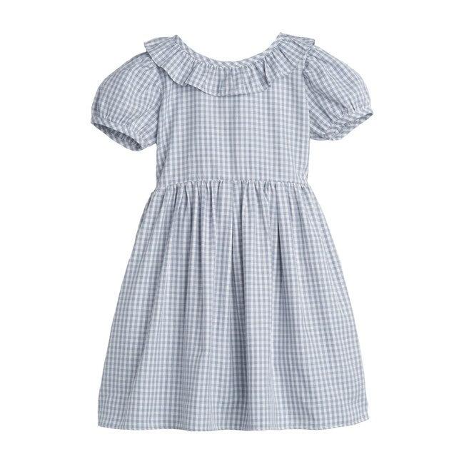 Blake Dress, Slate Blue Gingham