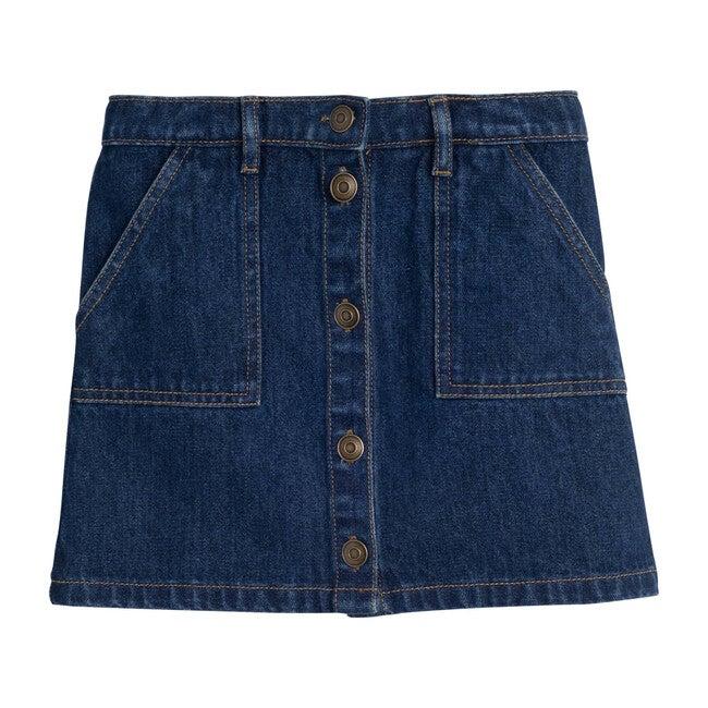 Harlow Snap Skirt, Denim