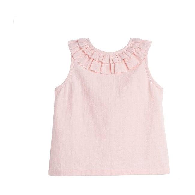 Maisie Ruffle Collar Top, Taffy Pink