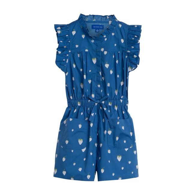 Maeve Romper, Blue Strawberries