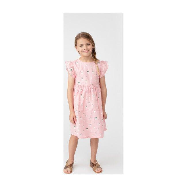 Lottie Dress, Pink Strawberries