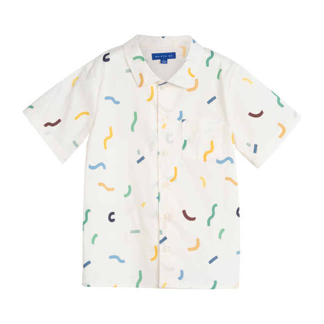 Oliver Short Sleeve Button Down, Squiggles