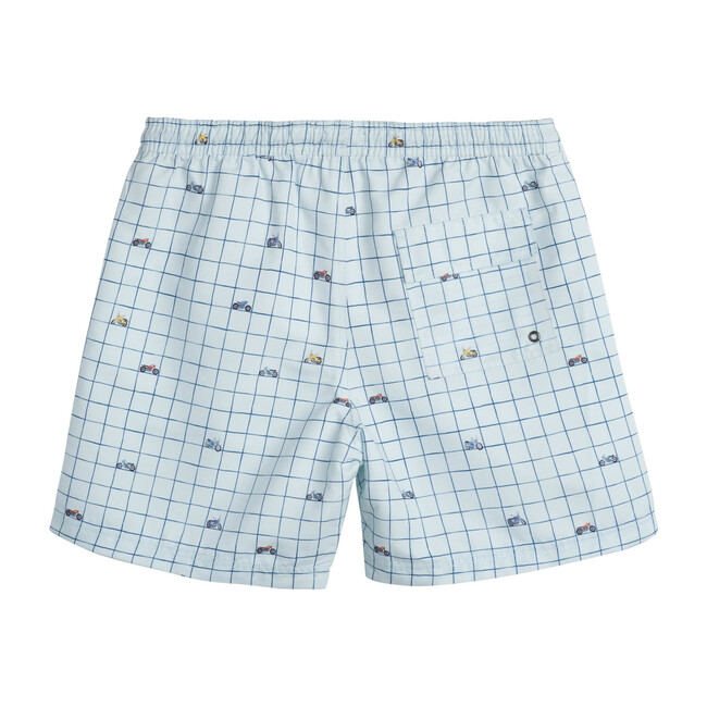 Zachary Men's Swim Trunk, Sky Moto