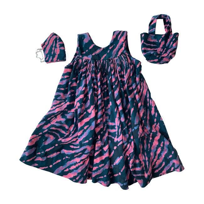 Tie Dye Dress, Mask & Tote