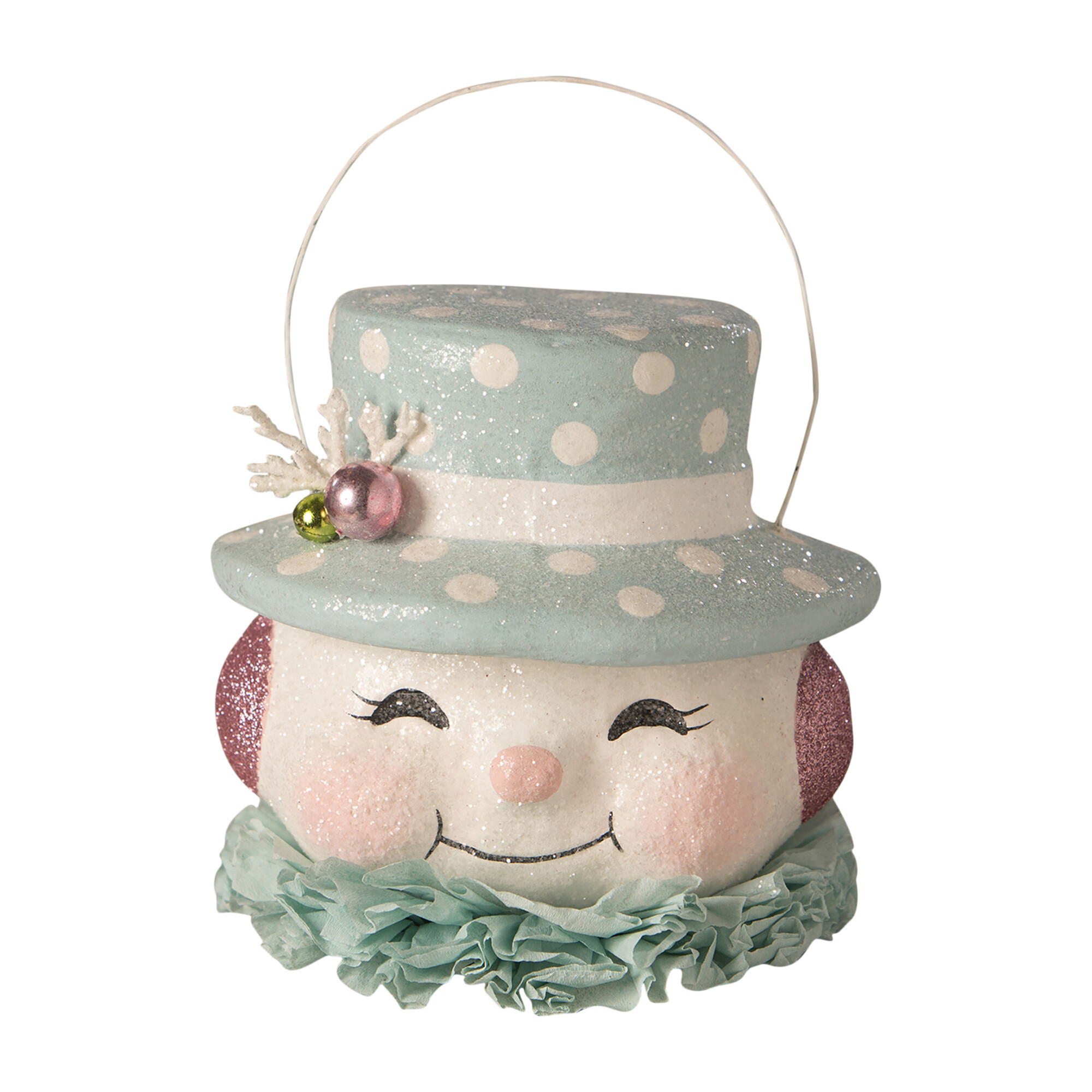 Happy Pastel Snowman Bucket
