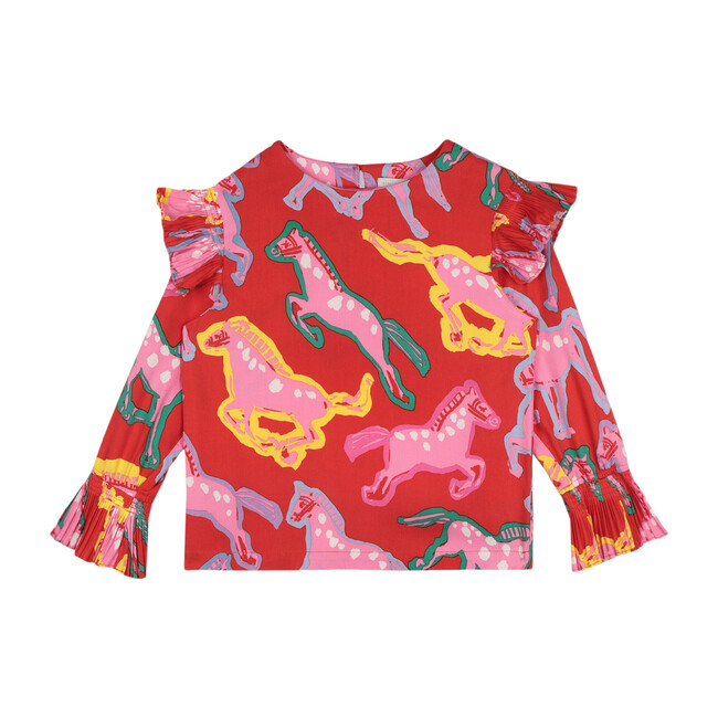 Wild Horses Blouse, Red