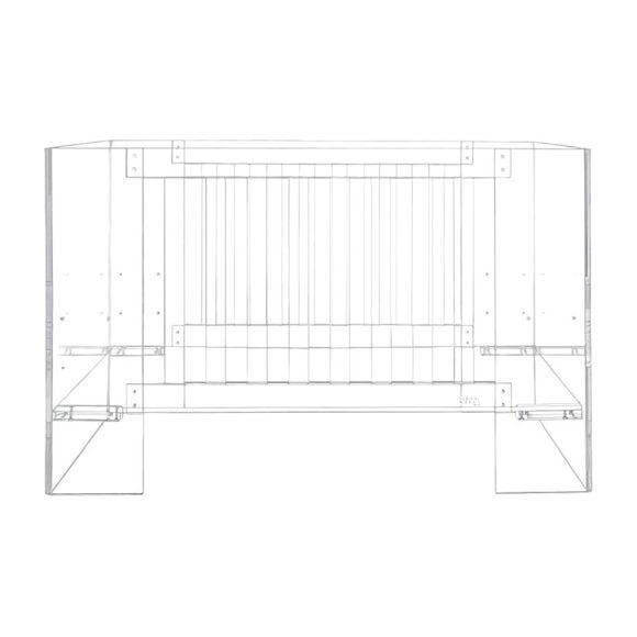 Vetro Crib, Clear Acrylic