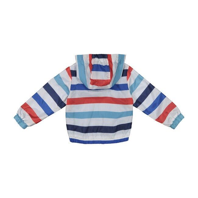 Baby Water Resistant Windbreaker, Blue Stripes
