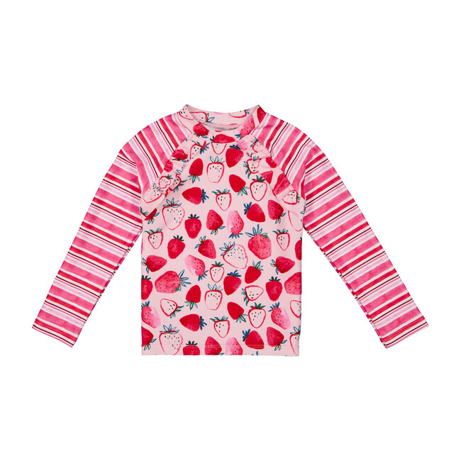 Baby Rashguard Set, Pink Strawberry