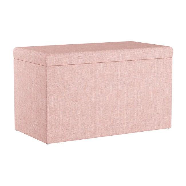 Palmer Storage Bench, Rosequartz Linen