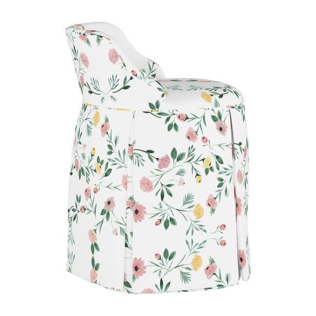 Eloise Vanity Chair, Blush Kaleidoscope Floral