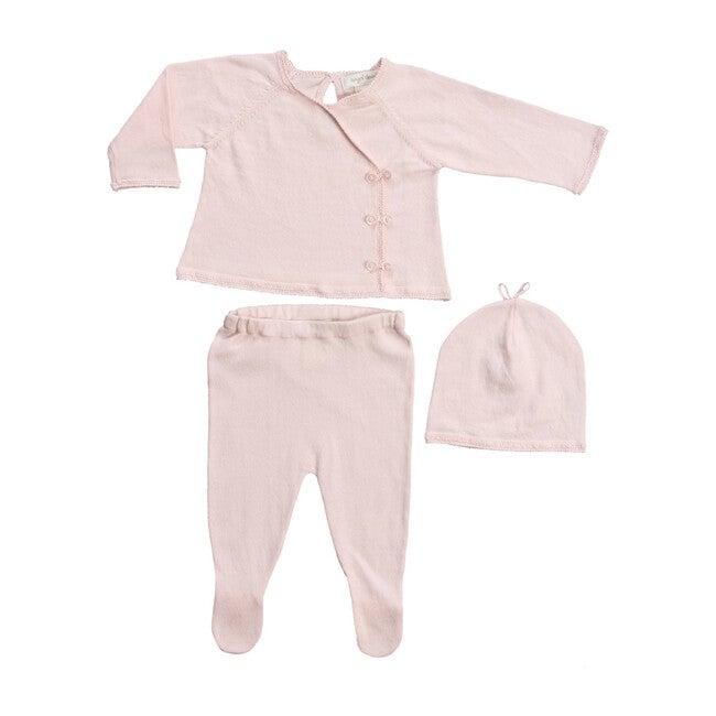 Classic Kimono 3 Piece Set, Baby Pink