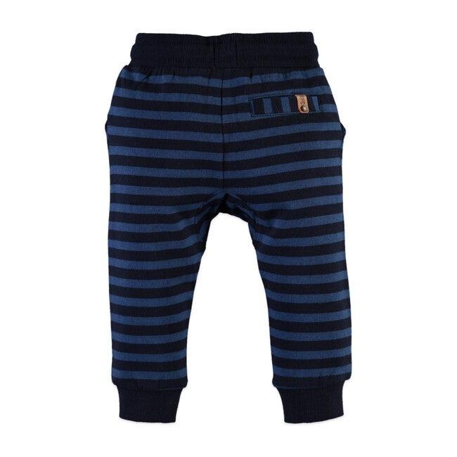 Sweatpants, Navy Stripe