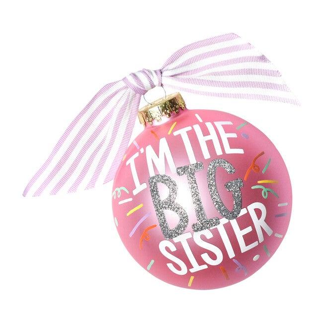 Big Sister Popper Glass Ornament