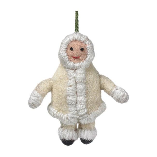 Eskimo Gal Ornament, Cream