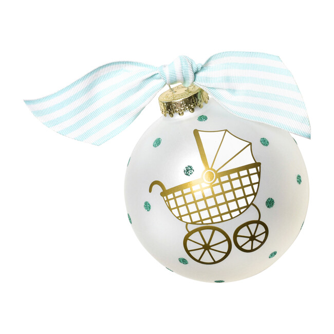 Welcome Little One Christmas Ornament, Blue