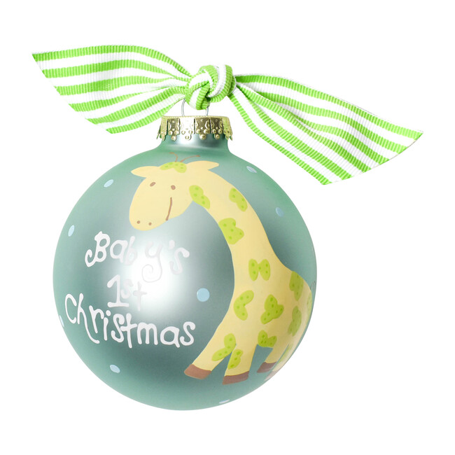 Baby's First Christmas Glass Ornament, Giraffe