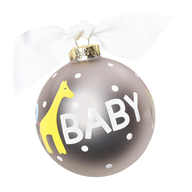 Baby Toy Christmas Ornament, Grey
