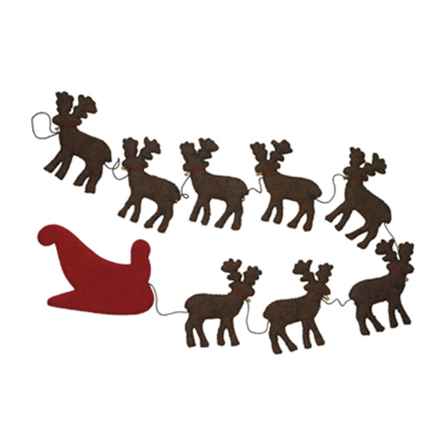 Reindeer Garland, Brown/Red