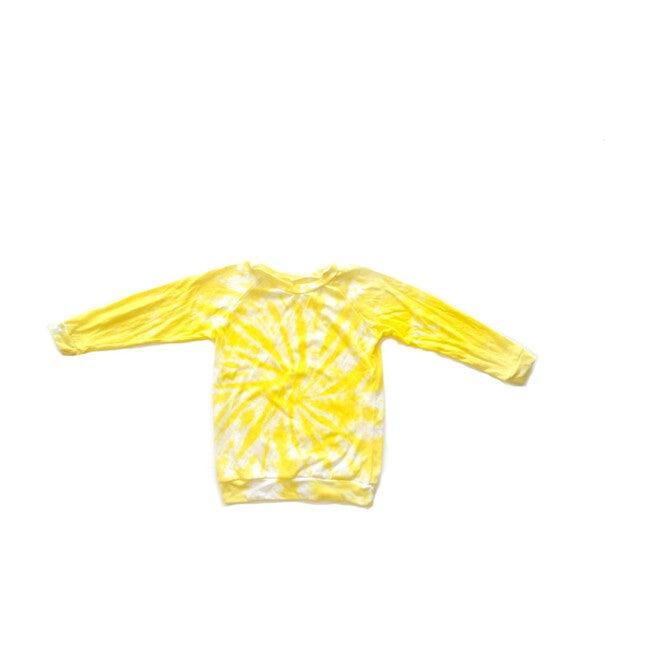 Tie Dye Raglan, Yellow